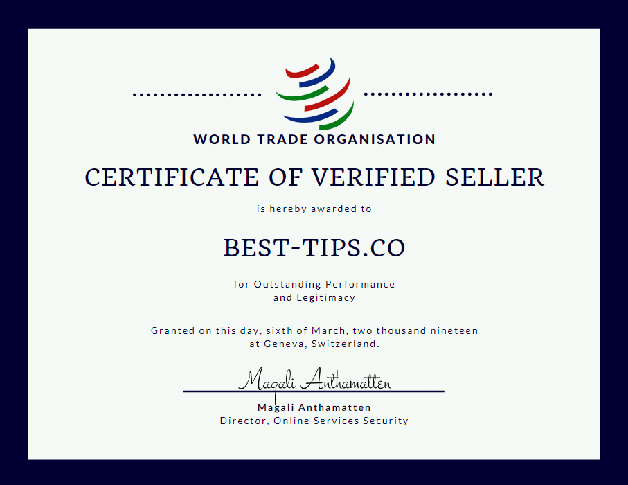 verified fixed matches seller certificate